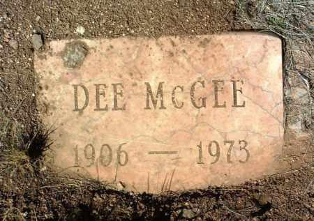 MCGEE, WILLIAM DEE - Yavapai County, Arizona   WILLIAM DEE MCGEE - Arizona Gravestone Photos