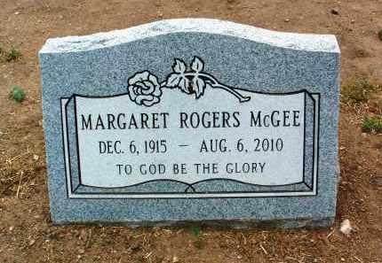 ROGERS MCGEE, MARGARET - Yavapai County, Arizona   MARGARET ROGERS MCGEE - Arizona Gravestone Photos