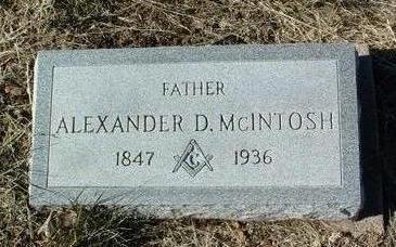 MCINTOSH, ALEXANDER D. - Yavapai County, Arizona   ALEXANDER D. MCINTOSH - Arizona Gravestone Photos
