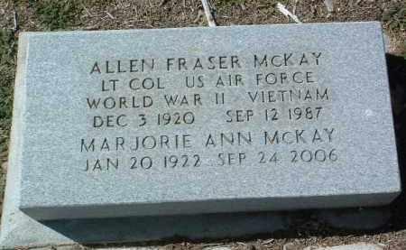 MCKAY, ALLEN FRASER, JR. - Yavapai County, Arizona | ALLEN FRASER, JR. MCKAY - Arizona Gravestone Photos