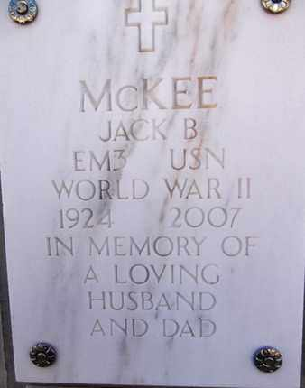 MCKEE, JACK BURGESS - Yavapai County, Arizona | JACK BURGESS MCKEE - Arizona Gravestone Photos