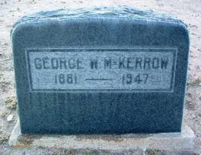 MCKERROW, GEORGE W. - Yavapai County, Arizona | GEORGE W. MCKERROW - Arizona Gravestone Photos