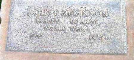 MCKINNON, JOHN FRANCIS - Yavapai County, Arizona | JOHN FRANCIS MCKINNON - Arizona Gravestone Photos