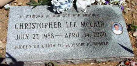 MCLAIN, CHRISTOPHER LEE - Yavapai County, Arizona   CHRISTOPHER LEE MCLAIN - Arizona Gravestone Photos