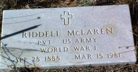 MCLAREN, RIDDELL - Yavapai County, Arizona | RIDDELL MCLAREN - Arizona Gravestone Photos