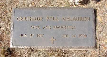 PYLE MCLAUREN, GERTRUDE - Yavapai County, Arizona | GERTRUDE PYLE MCLAUREN - Arizona Gravestone Photos