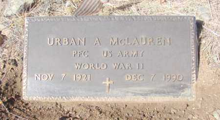 MCLAUREN, URBAN A. - Yavapai County, Arizona   URBAN A. MCLAUREN - Arizona Gravestone Photos