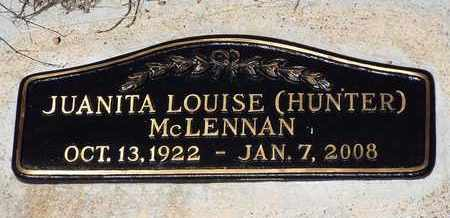 HUNTER MCLELLAN, JUANITA - Yavapai County, Arizona | JUANITA HUNTER MCLELLAN - Arizona Gravestone Photos