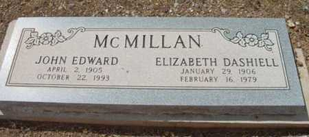 MCMILLAN, JOHN EDWARD - Yavapai County, Arizona | JOHN EDWARD MCMILLAN - Arizona Gravestone Photos