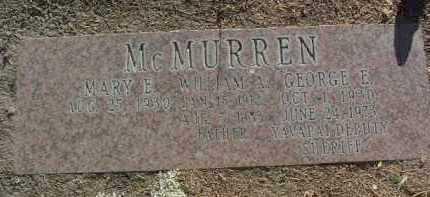 MCMURREN, GEORGE EDWARD - Yavapai County, Arizona   GEORGE EDWARD MCMURREN - Arizona Gravestone Photos