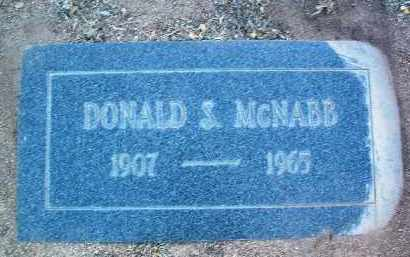 MCNABB, DONALD S. - Yavapai County, Arizona | DONALD S. MCNABB - Arizona Gravestone Photos