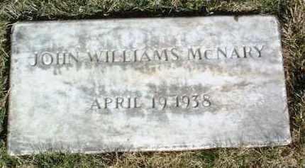 MCNARY, JOHN WILLIAMS - Yavapai County, Arizona | JOHN WILLIAMS MCNARY - Arizona Gravestone Photos