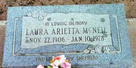 MCNEIL, LAURA ARIETTA - Yavapai County, Arizona | LAURA ARIETTA MCNEIL - Arizona Gravestone Photos
