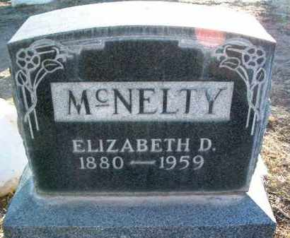 MCNELTY, ELIZABETH D. - Yavapai County, Arizona | ELIZABETH D. MCNELTY - Arizona Gravestone Photos