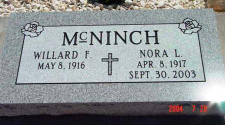 MCNINCH, NORA LEE - Yavapai County, Arizona | NORA LEE MCNINCH - Arizona Gravestone Photos