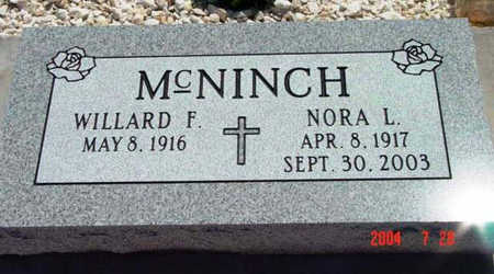 MCNINCH, WILLARD FREDERICK - Yavapai County, Arizona | WILLARD FREDERICK MCNINCH - Arizona Gravestone Photos