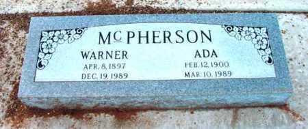 MCPHERSON, WARNER - Yavapai County, Arizona | WARNER MCPHERSON - Arizona Gravestone Photos