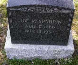 MCSPARRIN, JOSEPH HOOKER (JOE) - Yavapai County, Arizona | JOSEPH HOOKER (JOE) MCSPARRIN - Arizona Gravestone Photos
