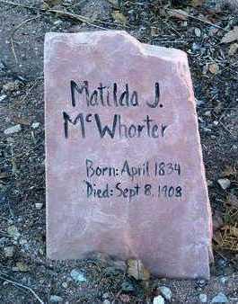 WATSON MCWHORTER, M. - Yavapai County, Arizona | M. WATSON MCWHORTER - Arizona Gravestone Photos