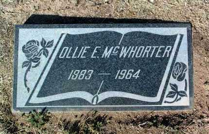 MCWHORTER, OLLIE E. - Yavapai County, Arizona | OLLIE E. MCWHORTER - Arizona Gravestone Photos