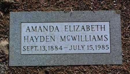 MCWILLIAMS, AMANDA ELIZABETH - Yavapai County, Arizona | AMANDA ELIZABETH MCWILLIAMS - Arizona Gravestone Photos