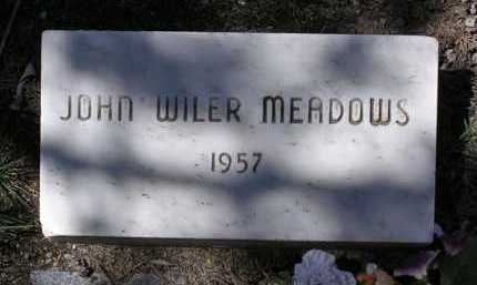 MEADOWS, JOHN WILER - Yavapai County, Arizona | JOHN WILER MEADOWS - Arizona Gravestone Photos
