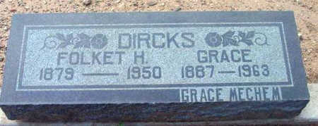MECHEM DIRCKS, GRACE - Yavapai County, Arizona | GRACE MECHEM DIRCKS - Arizona Gravestone Photos