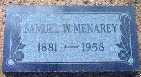 MENAREY, SAMUEL WILFORD - Yavapai County, Arizona | SAMUEL WILFORD MENAREY - Arizona Gravestone Photos