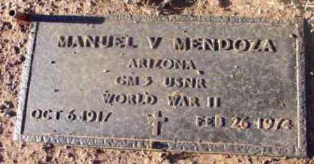 MENDOZA, MANUEL V. - Yavapai County, Arizona | MANUEL V. MENDOZA - Arizona Gravestone Photos