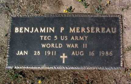 MERSEREAU, BENJAMIN P. - Yavapai County, Arizona   BENJAMIN P. MERSEREAU - Arizona Gravestone Photos