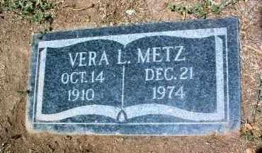 METZ, VERA L. - Yavapai County, Arizona | VERA L. METZ - Arizona Gravestone Photos