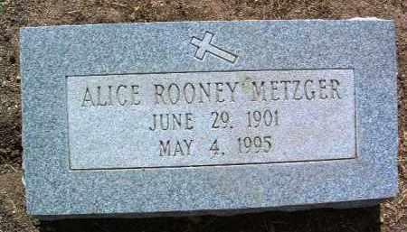 METZGER, ALICE CELESTINE - Yavapai County, Arizona   ALICE CELESTINE METZGER - Arizona Gravestone Photos