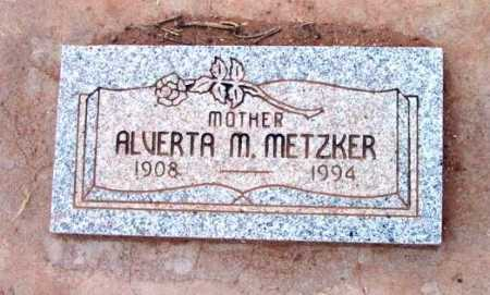 METZKER, ALVERTA M. - Yavapai County, Arizona | ALVERTA M. METZKER - Arizona Gravestone Photos