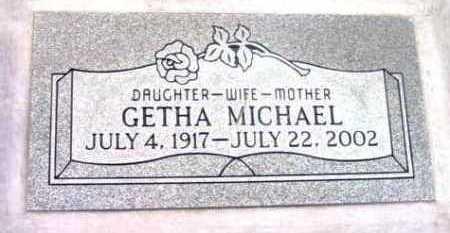 MICHAEL, GETHA GERTRUDE - Yavapai County, Arizona   GETHA GERTRUDE MICHAEL - Arizona Gravestone Photos