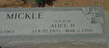 MICKLE, ALICE DORIS - Yavapai County, Arizona   ALICE DORIS MICKLE - Arizona Gravestone Photos