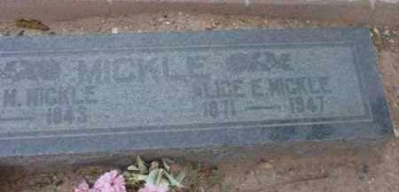 MICKLE, ALICE EDNA - Yavapai County, Arizona | ALICE EDNA MICKLE - Arizona Gravestone Photos