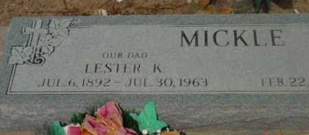 MICKLE, LESTER KNIGHT - Yavapai County, Arizona | LESTER KNIGHT MICKLE - Arizona Gravestone Photos
