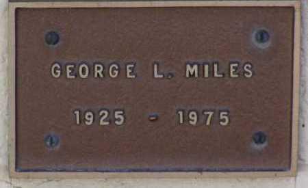 MILES, GEORGE LEE - Yavapai County, Arizona | GEORGE LEE MILES - Arizona Gravestone Photos