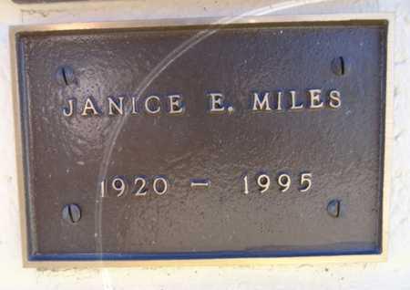 MILES, JANICE E - Yavapai County, Arizona | JANICE E MILES - Arizona Gravestone Photos