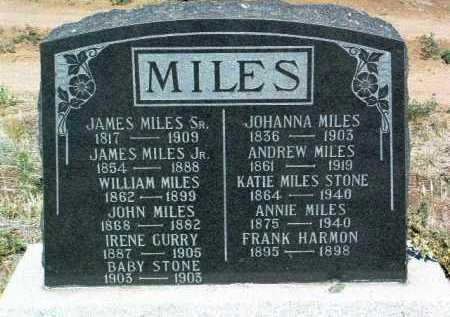MCCUE MILES, JOHANNA - Yavapai County, Arizona   JOHANNA MCCUE MILES - Arizona Gravestone Photos