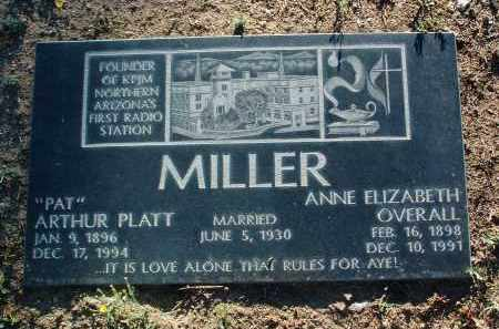 OVERALL MILLER, ANNE ELIZABETH - Yavapai County, Arizona | ANNE ELIZABETH OVERALL MILLER - Arizona Gravestone Photos
