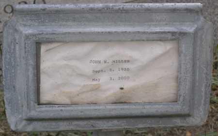 MILLER, JOHN W. - Yavapai County, Arizona   JOHN W. MILLER - Arizona Gravestone Photos