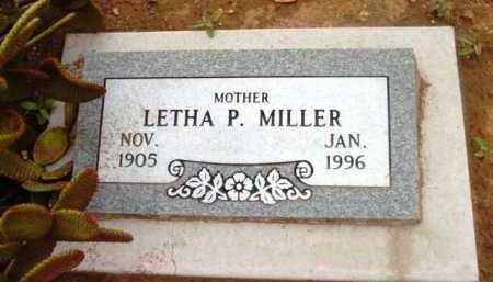 MILLER, ALETHA P. (LETHA) - Yavapai County, Arizona | ALETHA P. (LETHA) MILLER - Arizona Gravestone Photos