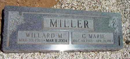 MILLER, WILLARD M. - Yavapai County, Arizona   WILLARD M. MILLER - Arizona Gravestone Photos