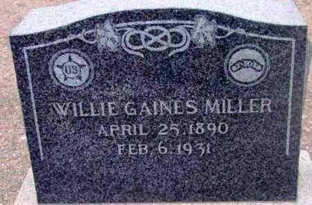 MILLER, WILLIE GAINES - Yavapai County, Arizona | WILLIE GAINES MILLER - Arizona Gravestone Photos