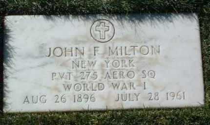 MILTON, JOHN FRANCIS - Yavapai County, Arizona | JOHN FRANCIS MILTON - Arizona Gravestone Photos