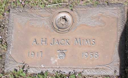 MIMS, A. H. JACK - Yavapai County, Arizona   A. H. JACK MIMS - Arizona Gravestone Photos