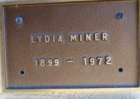 HUGENBRUCH MINER, LYDIA - Yavapai County, Arizona   LYDIA HUGENBRUCH MINER - Arizona Gravestone Photos