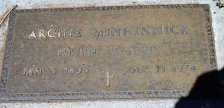 MINHINNICK, ARCHIBALD MUIR (ARCHIE) - Yavapai County, Arizona | ARCHIBALD MUIR (ARCHIE) MINHINNICK - Arizona Gravestone Photos