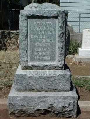 MONROE, DAVID JOSIAH - Yavapai County, Arizona | DAVID JOSIAH MONROE - Arizona Gravestone Photos